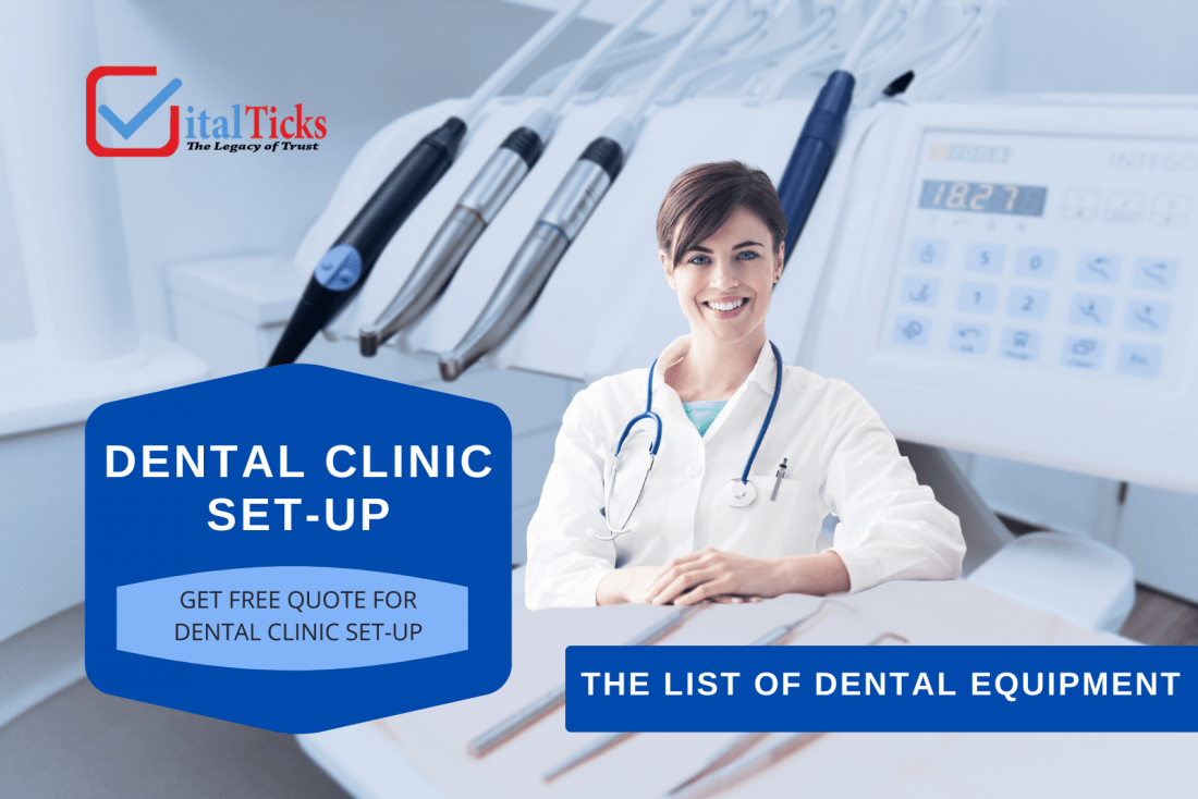 List Of Equipment and materials required for Dental Clinic Set-Up